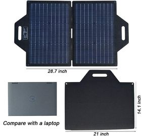 Portable Foldable Solar Panel Charger With Dual USB   DC Port  19V Output